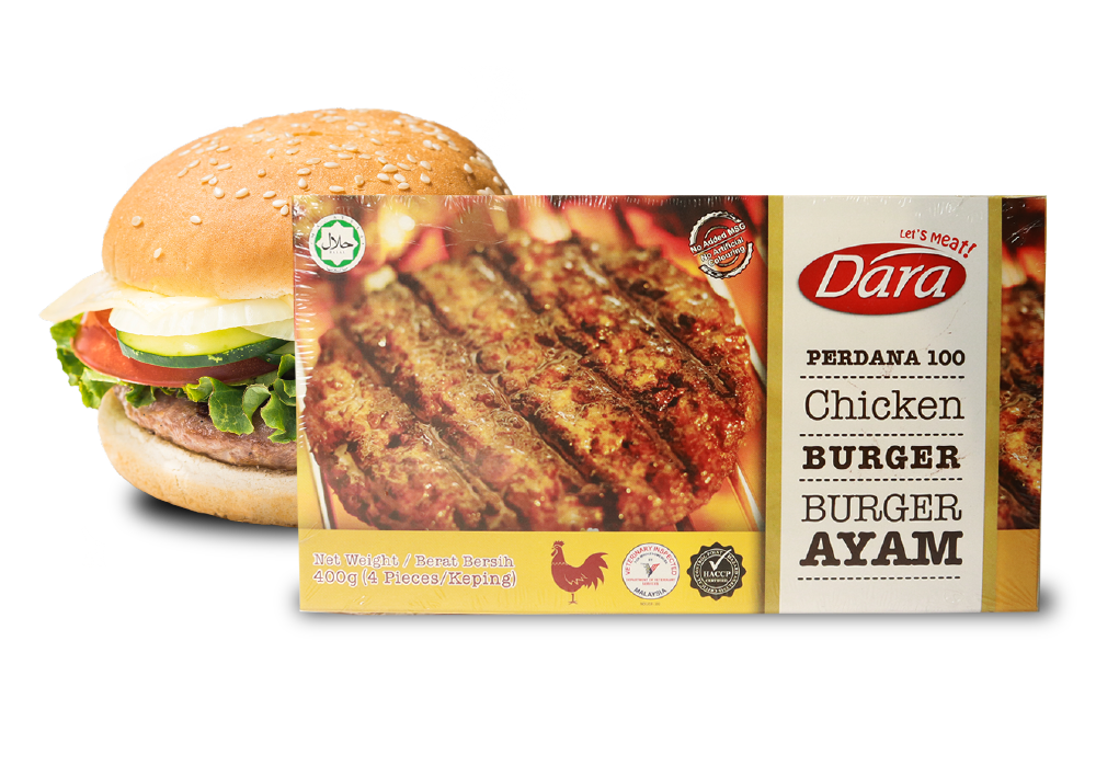 Perdana 100 Chicken Burger Patty's (100g)